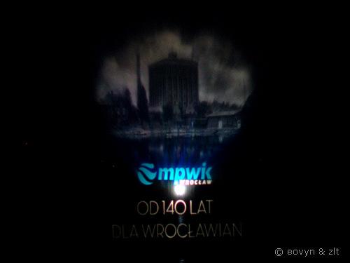 Fontanna Multimedialna - pokaz z okazji 140 lat MPWiK