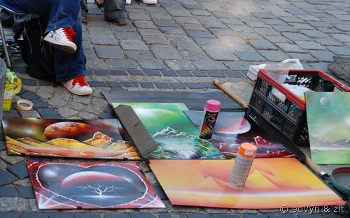 graffiti w rynku
