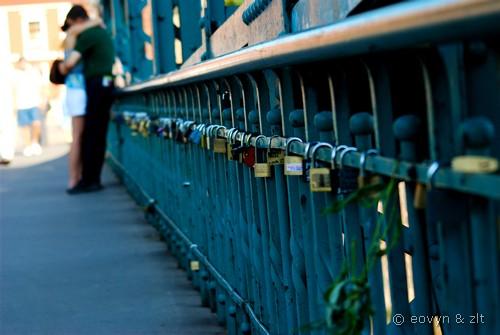 Kłódki na Moście Tumskim