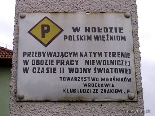 W hołdzie polskim więźniom.
